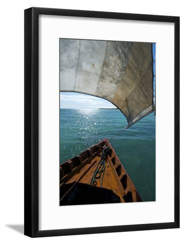 View From a Fishing Dhow Off the Coast of Matemo Island, Mozambique-Jad Davenport-Framed Art Print
