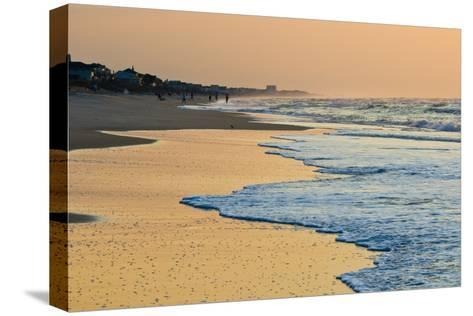 Topsail Beach in the Early Morning-Brian Gordon Green-Stretched Canvas Print