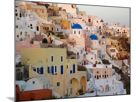 The Village of Ia, Built Into the Cliffs and Hillsides of Santorini-Charles Kogod-Mounted Photographic Print