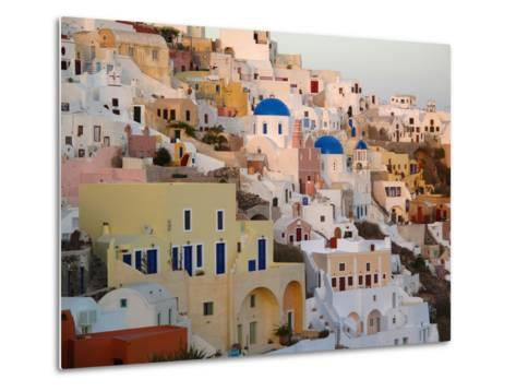 The Village of Ia, Built Into the Cliffs and Hillsides of Santorini-Charles Kogod-Metal Print