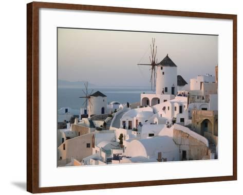 People Watch the Sunset in the Hillside Village of Ia-Charles Kogod-Framed Art Print