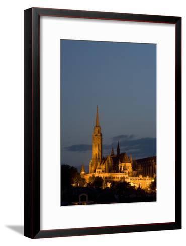 A Twilight View of Matthias Church in Buda Castle-Joe Petersburger-Framed Art Print