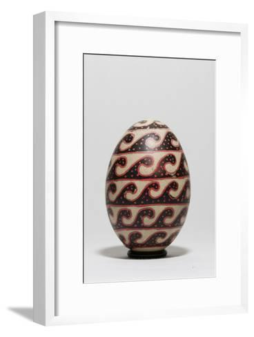 An Easter Egg with a Repeating Wave Motif-Joe Petersburger-Framed Art Print