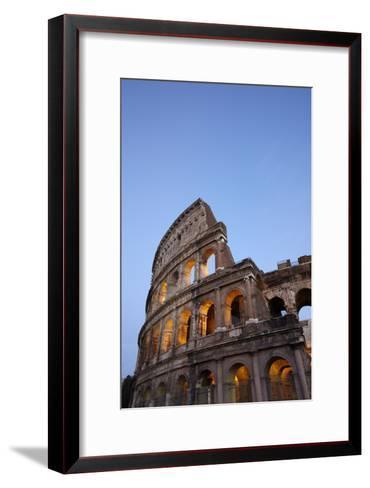Outside Rome's Colosseum At Dusk-Dave Yoder-Framed Art Print