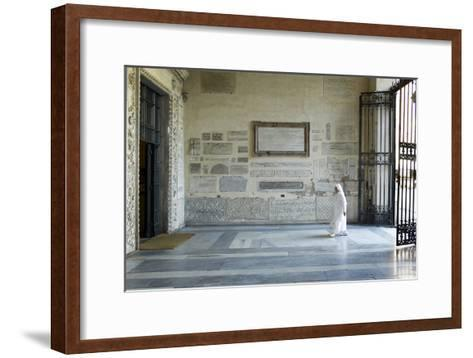 A Nun Enters the Basilica Di Santa Maria in Trastevere, One of the Oldest Churches in Rome-Dave Yoder-Framed Art Print