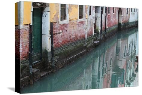 Buildings and Their Reflections in Canal Water-Joe Petersburger-Stretched Canvas Print
