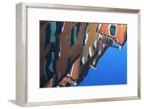 Buildings Reflecting On the Surface of the Canal Water-Joe Petersburger-Framed Art Print