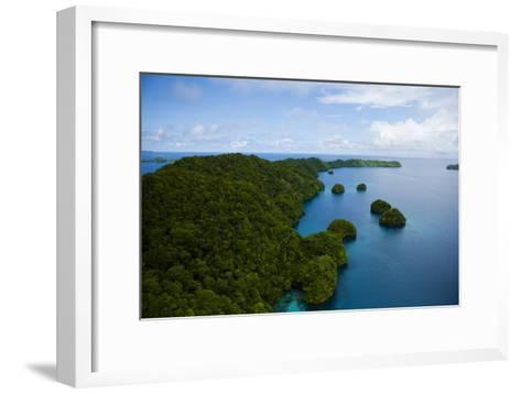 Limestone Island Formations Shaped By Wind and Water-Stephen Alvarez-Framed Art Print