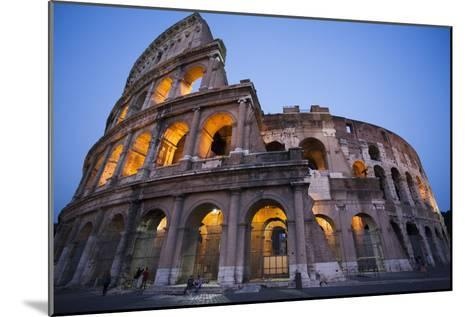Lights in the Colosseum in the Evening-Matt Propert-Mounted Photographic Print