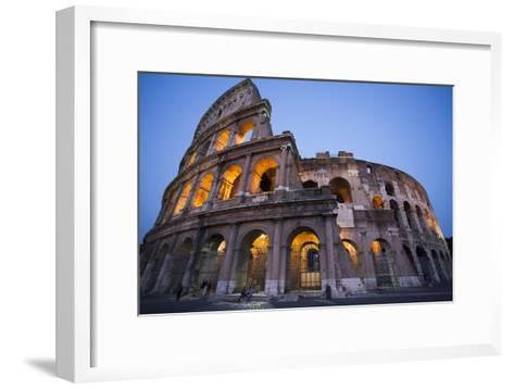Lights in the Colosseum in the Evening-Matt Propert-Framed Art Print