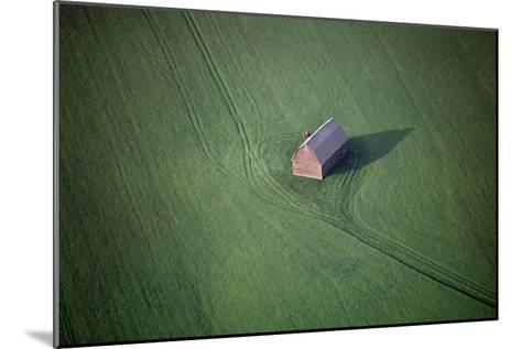 Aerial View of a Barn in the Middle of a Lush Green Field-Paul Chesley-Mounted Photographic Print