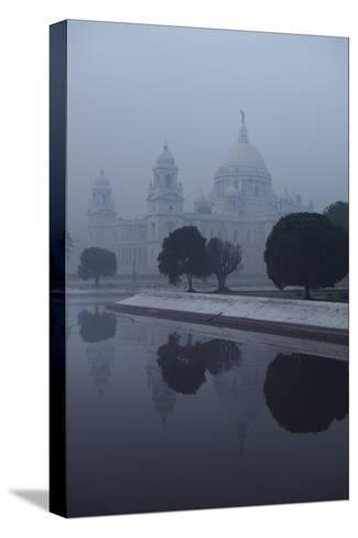 Victoria Memorial Is Enveloped in Ground Fog On a Cold Winter Morning in Calcutt-Steve Raymer-Stretched Canvas Print