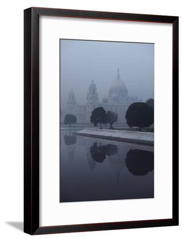 Victoria Memorial Is Enveloped in Ground Fog On a Cold Winter Morning in Calcutt-Steve Raymer-Framed Art Print