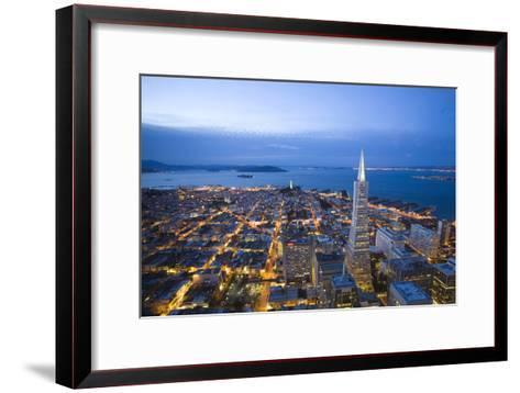 The View From the Lounge On the 52nd Floor of the U.S. Bank Tower-Susan Seubert-Framed Art Print