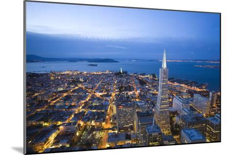The View From the Lounge On the 52nd Floor of the U.S. Bank Tower-Susan Seubert-Mounted Photographic Print