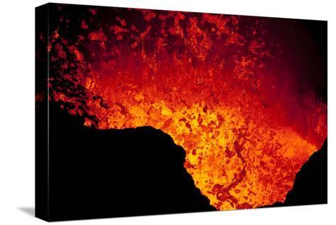 Lava Lake At Marum Crater-Ulla Lohmann-Stretched Canvas Print