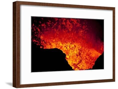 Lava Lake At Marum Crater-Ulla Lohmann-Framed Art Print