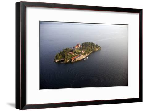 Singer Castle On Dark Island in Thousand Islands-Will Van Overbeek-Framed Art Print