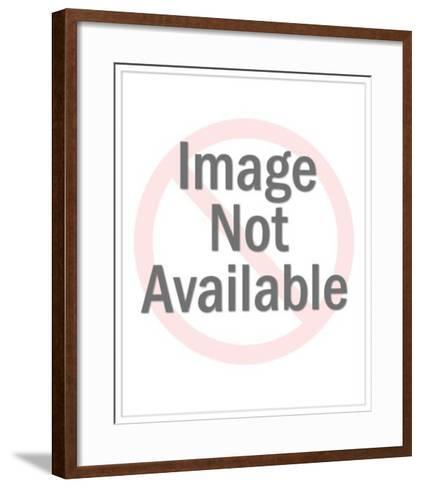 Smiling Man at Desk Speaking on Telephone-Pop Ink - CSA Images-Framed Art Print