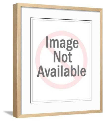Boy Blowing Party Noisemaker-Pop Ink - CSA Images-Framed Art Print