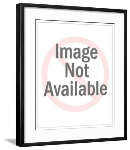 Cowboy Holding Blank Sign in Rope Frame-Pop Ink - CSA Images-Framed Art Print