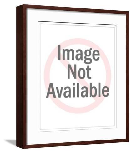 Eagle on Banner-Pop Ink - CSA Images-Framed Art Print