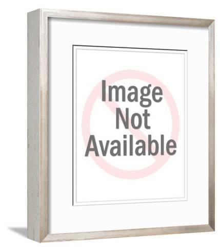 Bald Eagle Holding Flag Crest-Pop Ink - CSA Images-Framed Art Print
