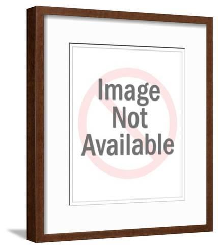 Dog in Doghouse-Pop Ink - CSA Images-Framed Art Print