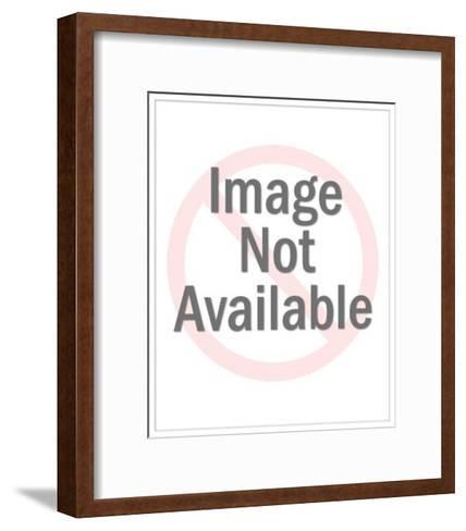 Man Adjusting Fluorescent Light-Pop Ink - CSA Images-Framed Art Print