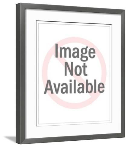 Farmer Milking a Cow-Pop Ink - CSA Images-Framed Art Print