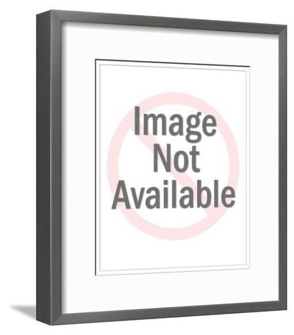 Smiling Man with Dark Hair-Pop Ink - CSA Images-Framed Art Print