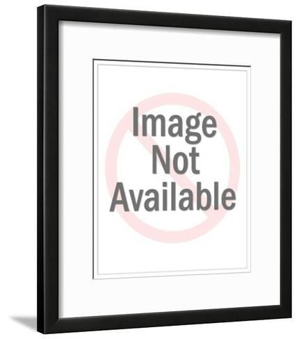 Man in Tuxedo Singing into Microphone on Stand-Pop Ink - CSA Images-Framed Art Print