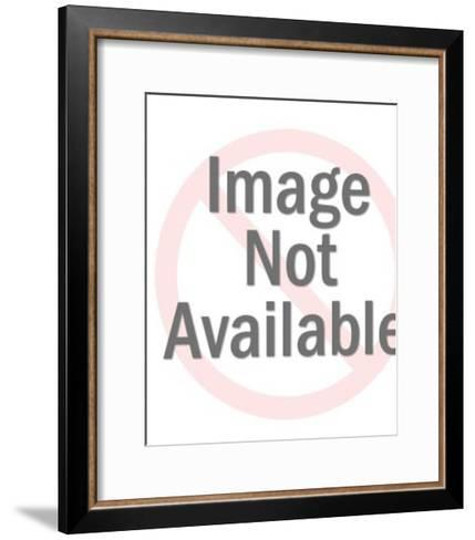 Man Giving Presentation and Pointing to Blank Paper on Easel-Pop Ink - CSA Images-Framed Art Print
