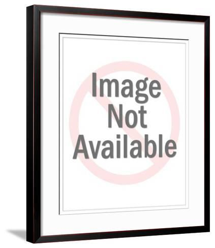 Ship Captain at Wheel-Pop Ink - CSA Images-Framed Art Print