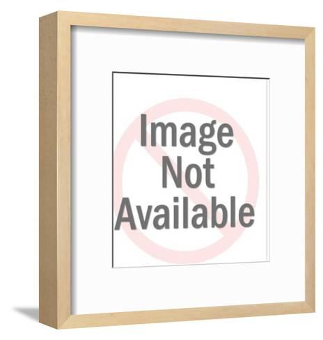 Construction Worker on Beam-Pop Ink - CSA Images-Framed Art Print