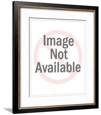 Woman in Dress Holding Blank Sign-Pop Ink - CSA Images-Framed Art Print