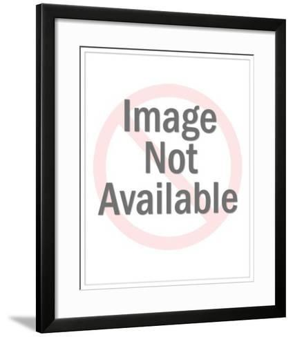 Woman with Short Curly Hair-Pop Ink - CSA Images-Framed Art Print