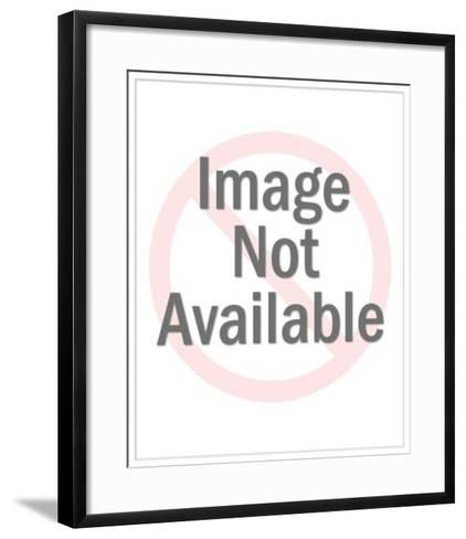 Man Happily Carrying Packages for Shopping Woman-Pop Ink - CSA Images-Framed Art Print