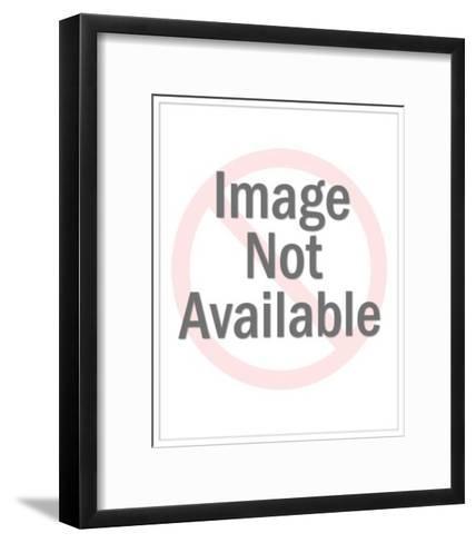 Winking Black Cat-Pop Ink - CSA Images-Framed Art Print