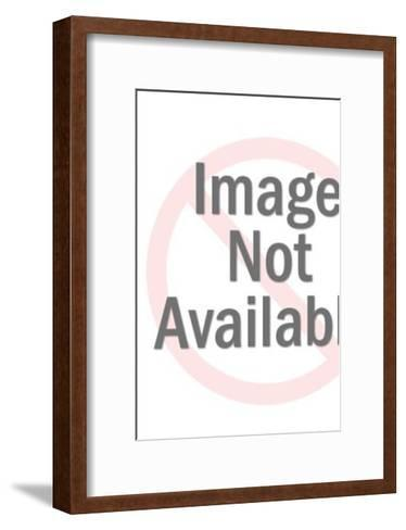 Woman with Full Grocery Cart-Pop Ink - CSA Images-Framed Art Print