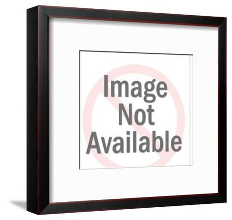 Couple Embracing at Holidays with Woman Being Secretive-Pop Ink - CSA Images-Framed Art Print