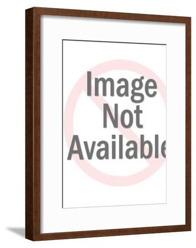 Woman in Home at Thermostat-Pop Ink - CSA Images-Framed Art Print