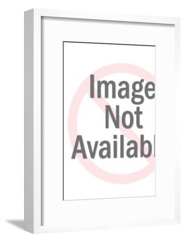 Sneaky-Looking Man Looking Sideways-Pop Ink - CSA Images-Framed Art Print