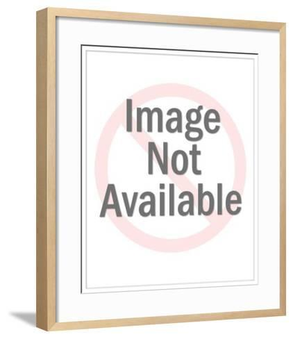 Grocer Bagging Groceries-Pop Ink - CSA Images-Framed Art Print