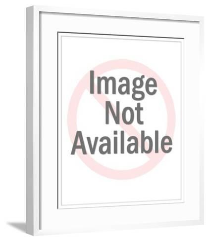Winking Man in Baseball Cap-Pop Ink - CSA Images-Framed Art Print