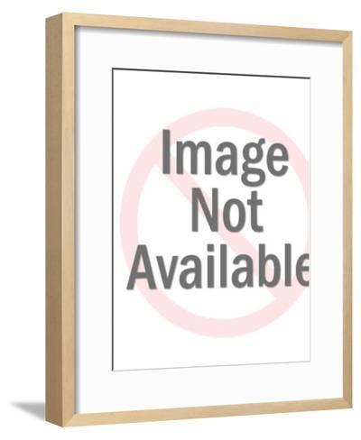 Man Wearing Gas Mask-Pop Ink - CSA Images-Framed Art Print