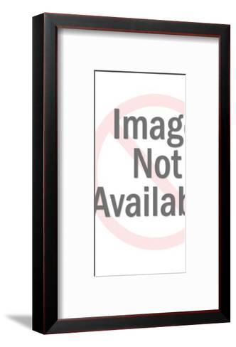 Unhappy Man Wearing Barrel-Pop Ink - CSA Images-Framed Art Print