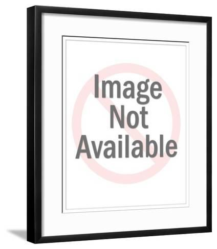 Ugly Woman with Flower in Her Mouth-Pop Ink - CSA Images-Framed Art Print