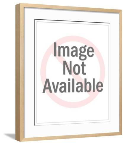 Santa Claus with Santa Sign-Pop Ink - CSA Images-Framed Art Print