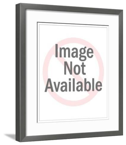 Girl Giving Gift to Her Father-Pop Ink - CSA Images-Framed Art Print